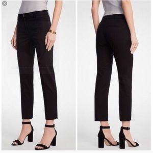 Ann Taylor Devin fit black ankle trousers